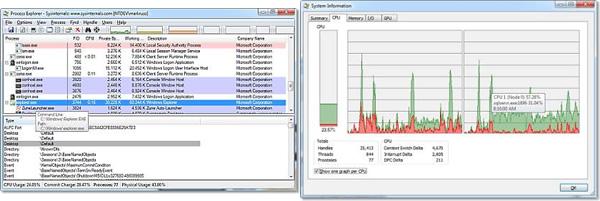 Herramientas para distinguir procesos desconocidos en Windows - process-explorer