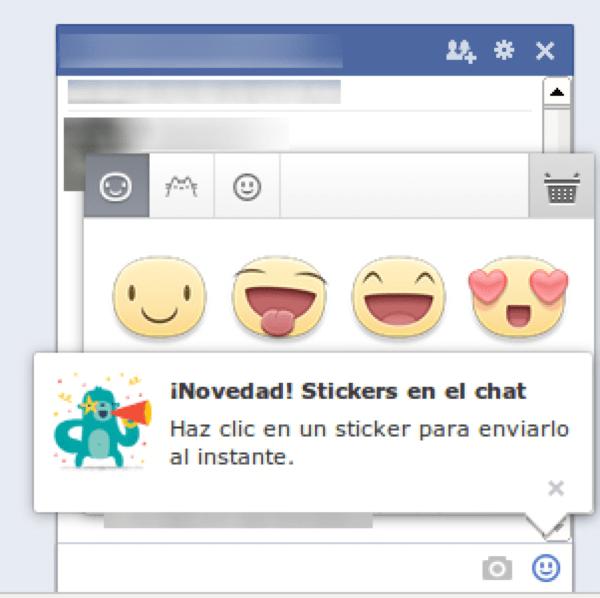 Facebook añade Stickers al chat desde la web - stickers
