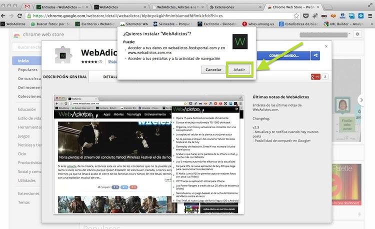Instala la nueva extensión de WebAdictos para Google Chrome y no te pierdas de ninguna noticia - webadictos-google-chrome-2
