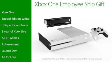 Xbox One color blanco estará disponible, pero solo para los trabajadores de Microsoft