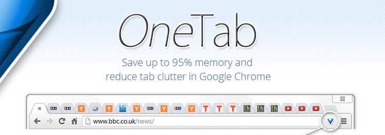 One Tab, permite para reducir el consumo de memoria RAM al utilizar Google Chrome - one-tab-para-google-chrome