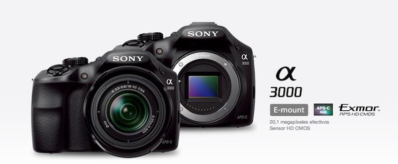 Sony Alpha a3000 con Montura E está de preventa en México - Sony-Alpha-a3000