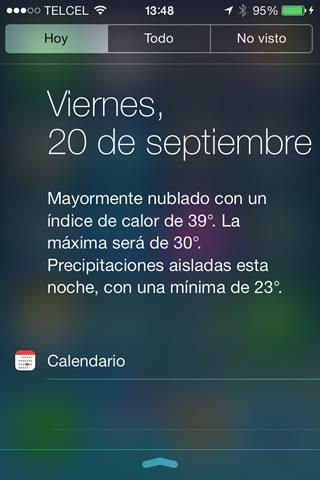 Conoce lo nuevo en iOS 7 y cómo activarlo - centro-notificaciones-ios-7