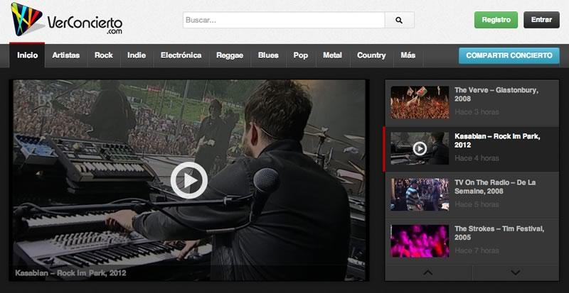 Ver conciertos online completos en VerConcierto.com - conciertos-youtube-online