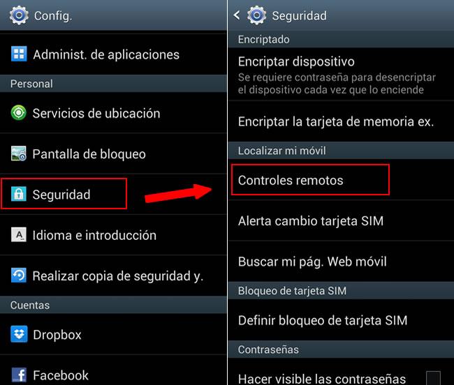 controles remotos samsung Rastrear tu celular Samsung y bloquearlo a distancia con Findmymobile