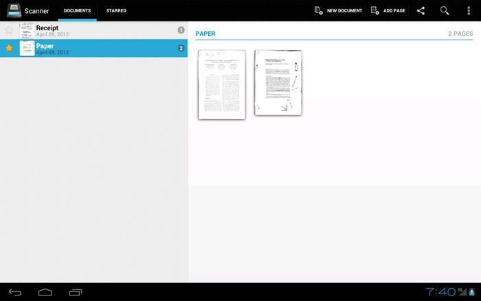 Apps para escanear archivos con el celular - handy-scanner-free