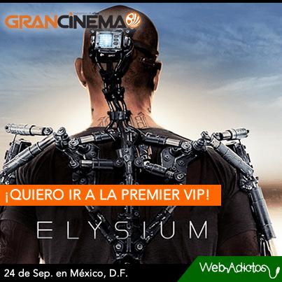 WebAdictos y Gran Cinema te invitan a la premier VIP de Elysium en México - premiere-elyisum-webadictos-cinema