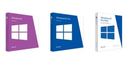Ya disponibles los precios de Windows 8.1 y los diseños de sus cajas