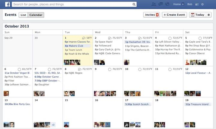 Calendario Eventos Facebook mejora el calendario de eventos incluyendo el pronóstico del clima
