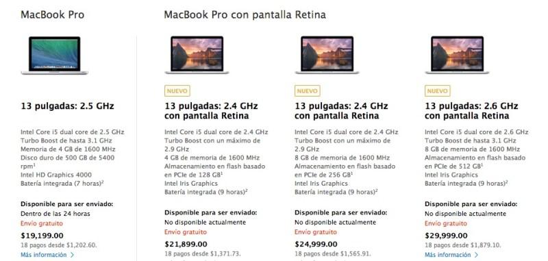 Apple renueva las MacBook Pro de Retina con procesador Haswell de Intel - Precios-MacBook-Pro-Retina