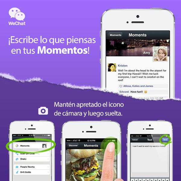 WeChat presenta nuevas características y mayor seguridad - Text-Moments-spanish