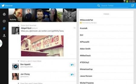 Twitter lanza versión optimizada para tabletas con Android pero únicamente para la Samsung Galaxy Tab 10.1