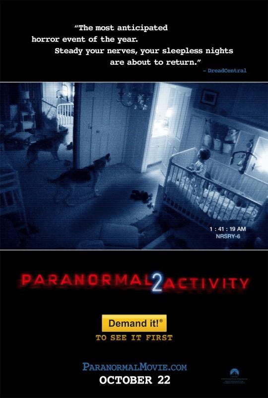 actividad paranormal 2 540x800 Películas de terror para este Halloween en Netflix