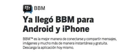 BBM para Android y iPhone tuvo más de 10 millones de descargas el primer día