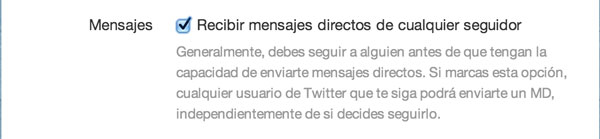 Twitter ahora permite recibir Mensajes Directos de usuarios a quienes no seguimos - mensajes-directos-twitter