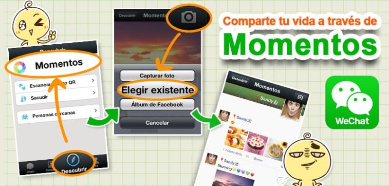 WeChat presenta nuevas características y mayor seguridad - moments