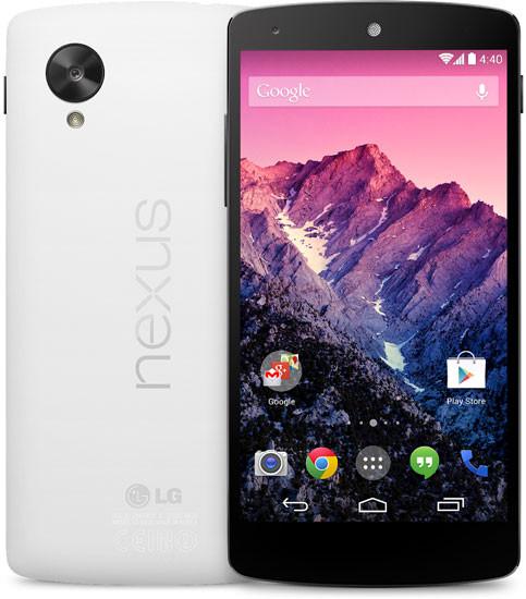 Es oficial: Nexus 5 llega con el mejor hardware posible a un precio de 349 dólares - nexus-5-blanco