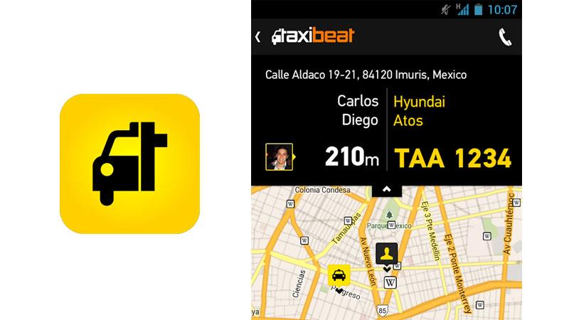 5 apps para viajar en Taxi Seguro en México, DF - taxibeat-mexico
