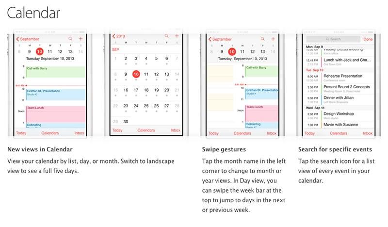 Trucos para iPhone publicados por Apple - trucos-ios7-calendario