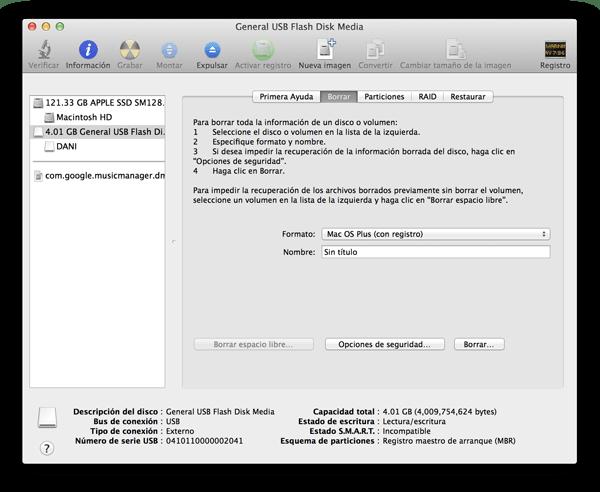 Cómo instalar OS X Mavericks desde cero con una memoria USB - utilidad-de-discos