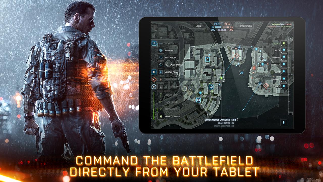 Blattlefiled 4 comandante EA lanza aplicación para jugar el modo Comandante de Battlefield 4 en tabletas