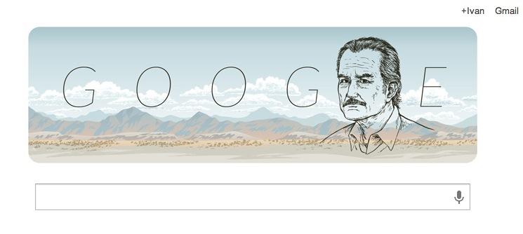 Google conmemora a Carlos Fuentes, célebre escritor mexicano con un Doodle - Carlos-Fuentes-Doodle