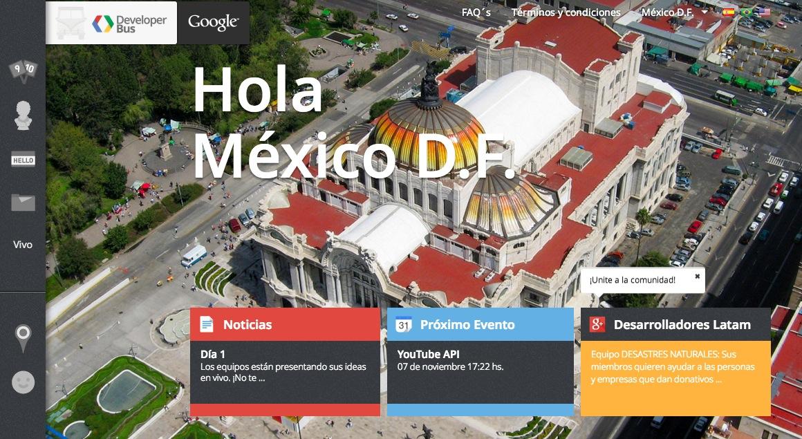 Google Developers Bus La combi de Google llega a México para desarrollar aplicaciones