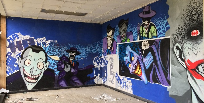 Fabulosos graffitis de Batman encontrados en hospital abandonado - 3-copia
