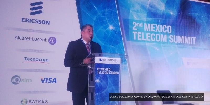 2nd México Telecom Summit y la creciente demanda en el consumo de datos - Juan-Carlos-Duran-Gerente-de-Desarrollo-de-Negocios-Data-Center-de-CISCO-02-800x401