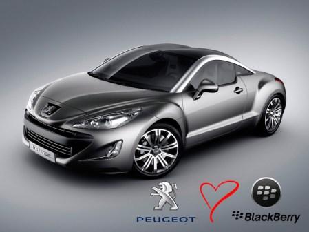 Peugeot utilizará ahora los servicios de BlackBerry