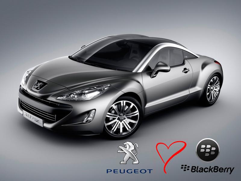 Peugeot utilizará ahora los servicios de BlackBerry - Peugeot-y-blackberry