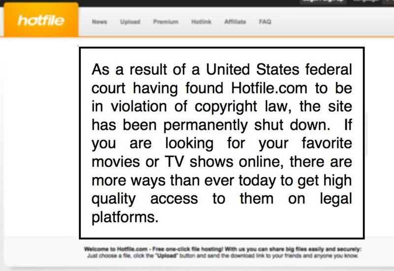 Hotfile cierra y deberá pagar 80 millones de dólares a la MPAA - hotfile-cierra