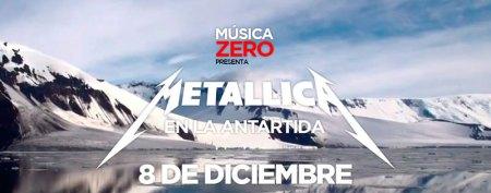 Concierto de Metallica en vivo desde la Antártida