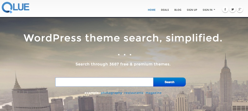 Encontrar temas para Wordpress con Qlue