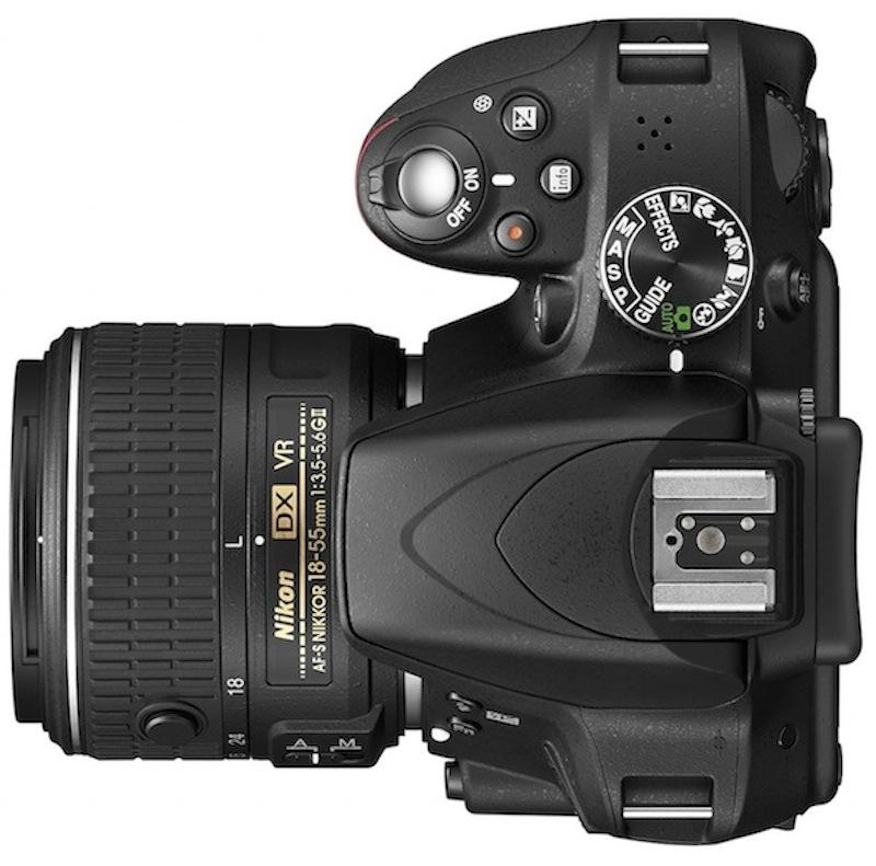 Nikon presenta su nueva cámara DSLR D3300 - Nikon-D3300-DSLR-camera-top
