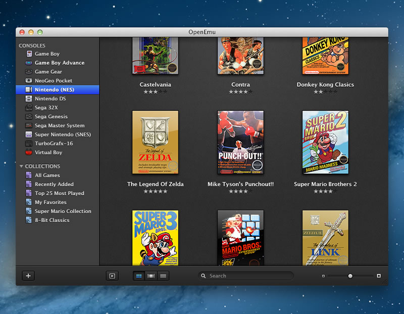 OpenEmu, emulador de Nintendo, Sega y otras plataformas para Mac - Nintendo-NES-Library