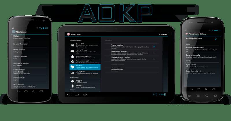 Las cinco mejores ROMs para tu Android - aokp-rom