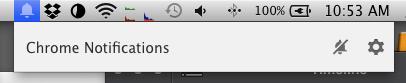 Cómo deshabilitar el botón de notificaciones de Chrome en la barra de menú en OS X - chrome-notifications
