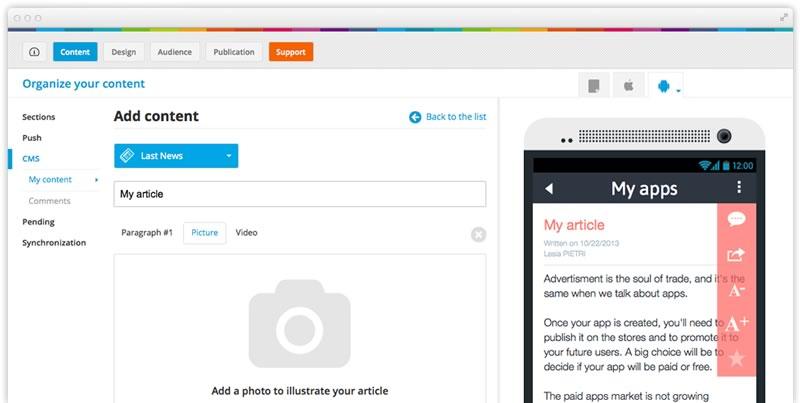Crea impresionantes apps para iPhone y Android rápidamente y sin conocimientos técnicos con GoodBarber - como-crear-apps-goodbarber-3