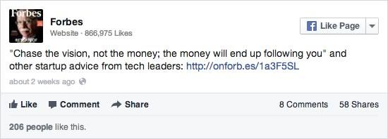 Las páginas en Facebook deben evitar publicaciones de sólo texto - compartir-enlaces-facebook
