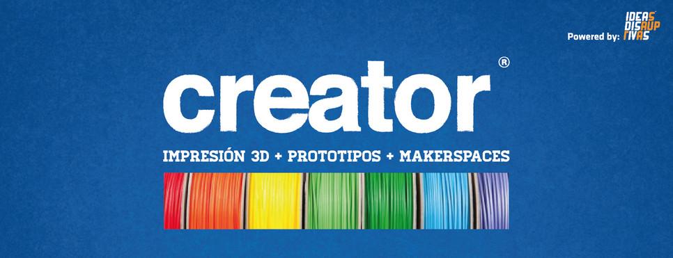Creator, la tienda para los creadores de impresion 3D, prototipos y makerspaces - creatorprinter-slide