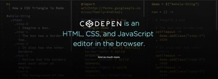 Editar HTML, CSS y Javascript online con CodePen