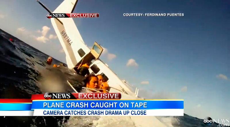 Avión desciende de emergencia sobre el mar y pasajero lo graba con su GoPro - gopro-accidente-avion