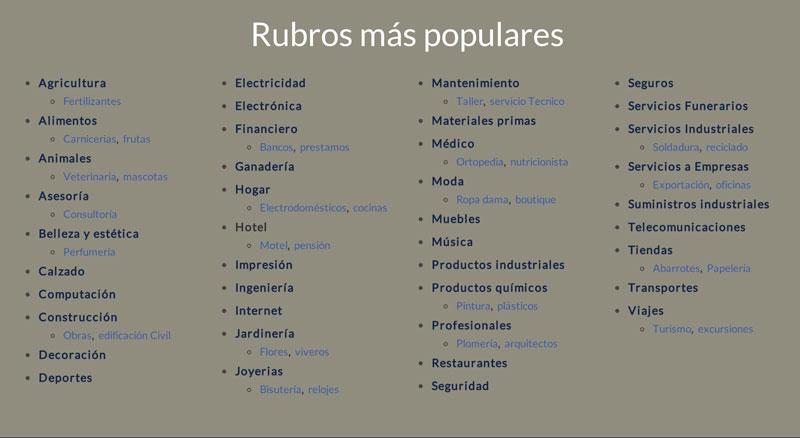 guialis rubros populares Guialis, directorio de empresas y servicios profesionales en México