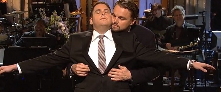 "Jonah Hill y Leonardo DiCaprio recrean escena de TITANIC en ""Saturday Night Live"" - leo1"