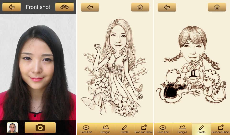 MomentCam, convierte tus fotos en caricaturas con esta app gratis para iOS y Android - momentcam-crear-caricaturas-app