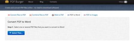 Convertir PDF a Word y mucho más online y gratis en PDF Burger
