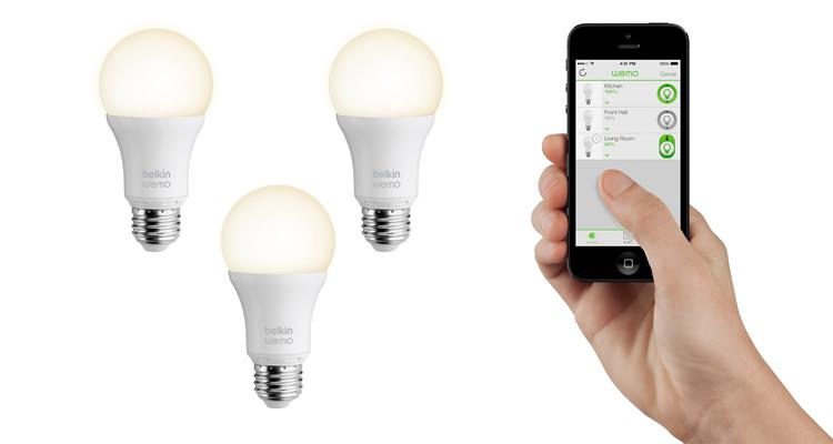 Belkin presenta su nueva línea de productos inteligentes para el hogar WeMo [CES 2014] - wemo-luces-inteligentes