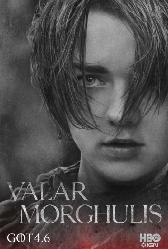 Nuevos posters y teaser tráiler de Game of Thrones y la familia Stark - Arya-610x903-540x800