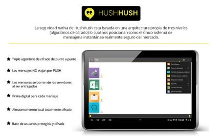 HushHushApp, una alternativa a WhatsApp enfocada a proteger la privacidad